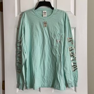 PINK Victoria's Secret Long Sleeve Shirt Size S